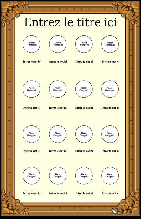 Affiche de Vocabulaire Visuel Encadrée