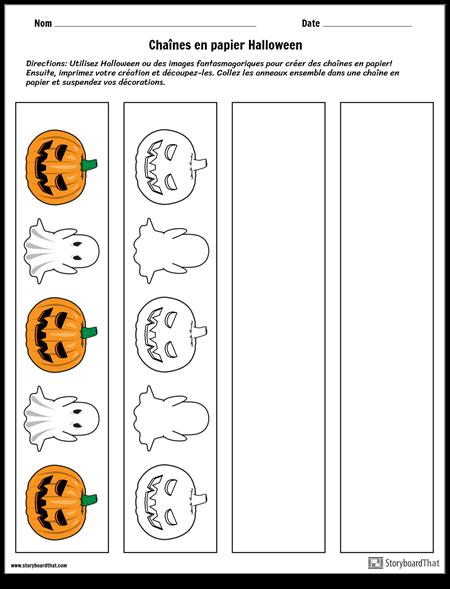Chaînes de Papier D'halloween