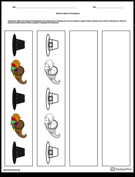 Chaînes de Papier de Thanksgiving