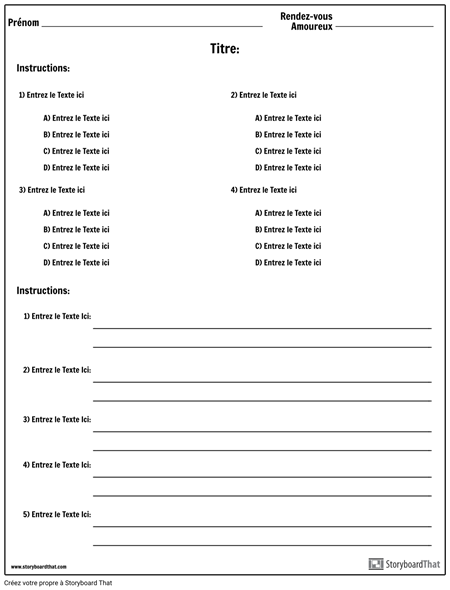 Choix Multiple et Réponse Courte / Définitions