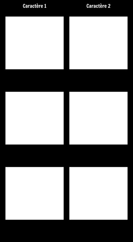 Comparaison de Personnages - T-Chart