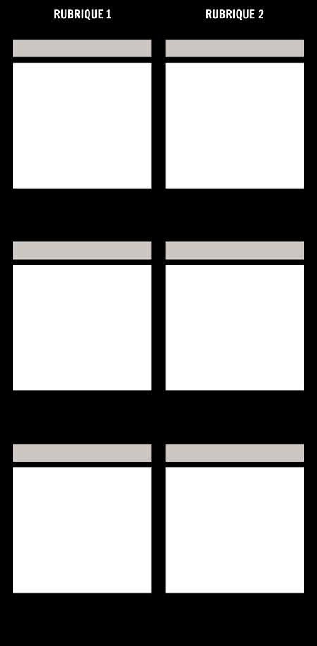 Comparaison en Blanc T-Chart