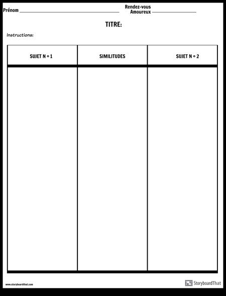 Comparer la Table de Contraste