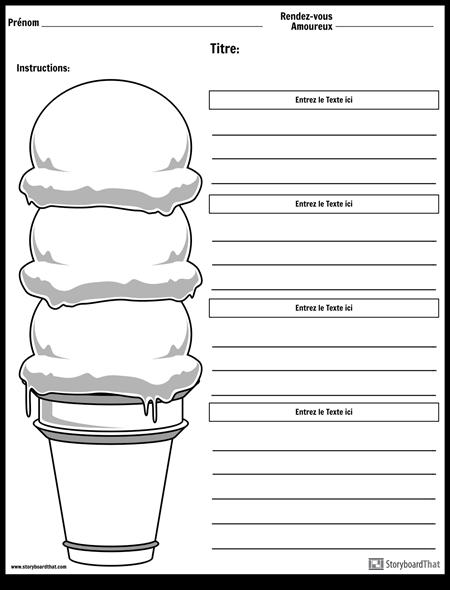 Cône à la Crème Glacée