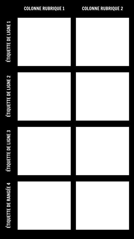 Graphique 2X4 en Blanc