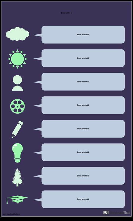 Infographie de Bulle de Discours
