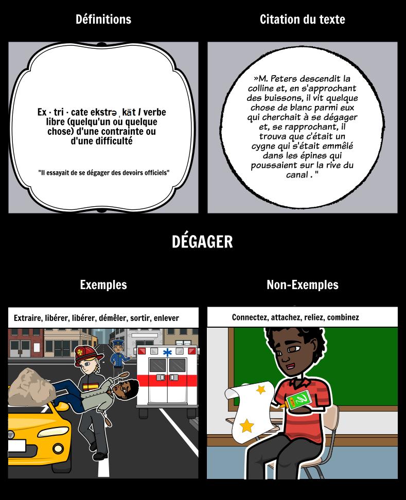 Le Troisième Vœu - Modèle Frayer Vocabulaire