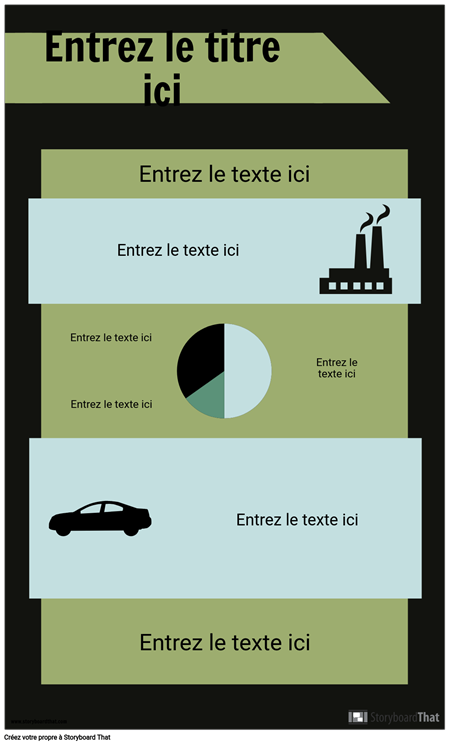Modèle D'infographie PSA