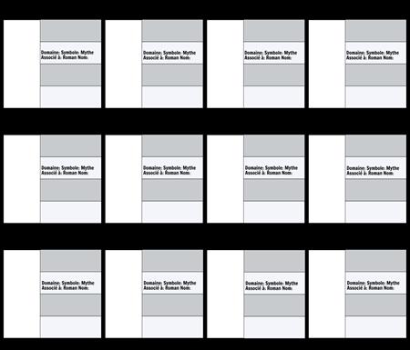 Modèle de Carte de Personnage Olympien