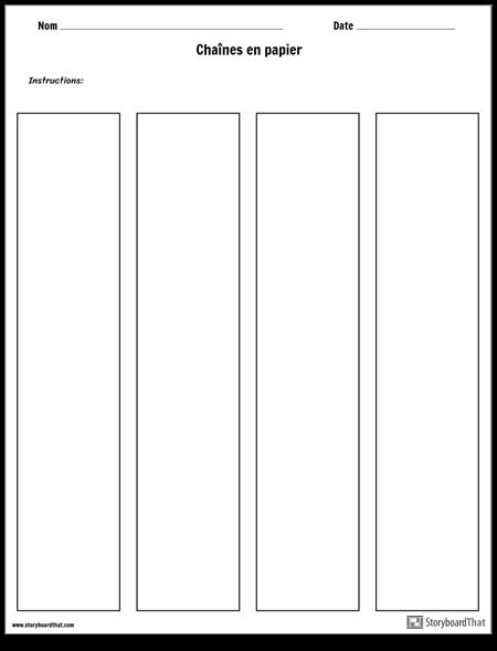 Modèle de Chaînes de Papier