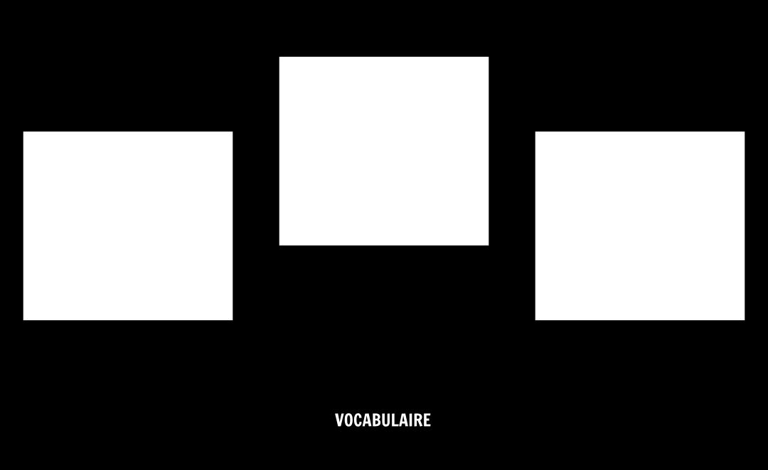 Modèle de Vocabulaire Blank
