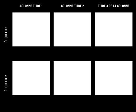 Modèle Graphique 2x3