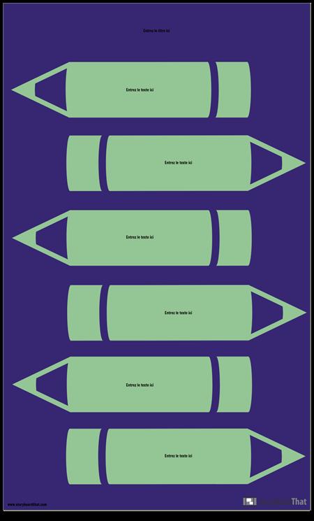 Modèle Infographique de Crayons