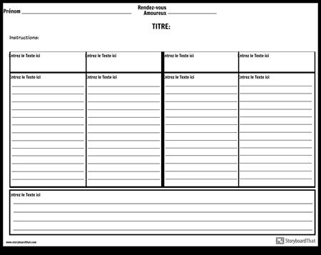 Notes à Quatre Colonnes Avec Lignes et Résumé
