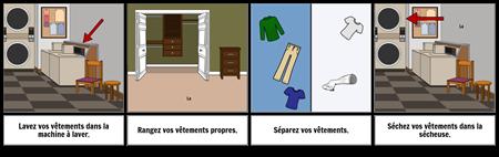 Premier ... Dernier Exemple - Laver les Vêtements