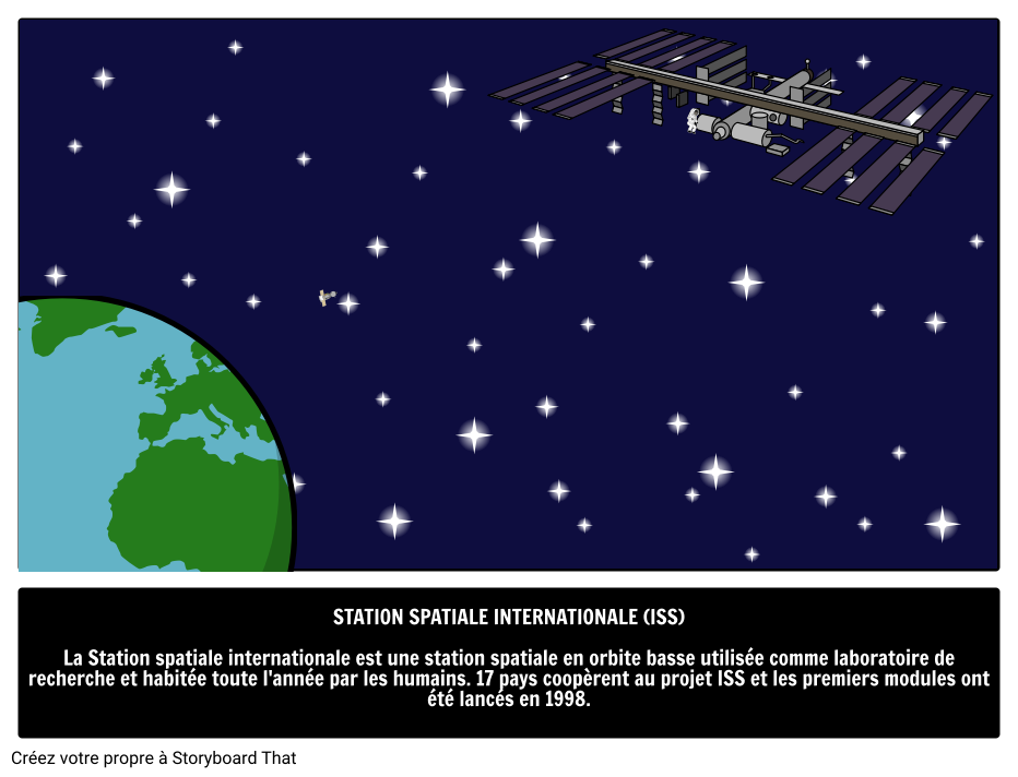 Station Spatiale Internationale Storyboard By Fr Examples