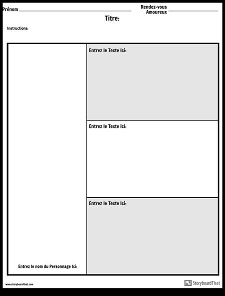 Tableau des Personnages - 3 Questions
