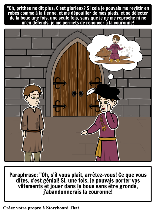The Prince and the Pauper Paraphrase