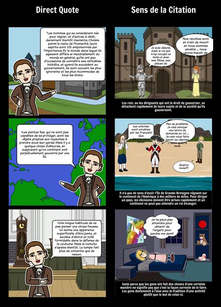 Thomas Paine Common Sense - Analyse des Cotations