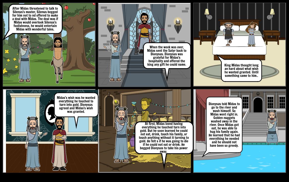King Midas Comic