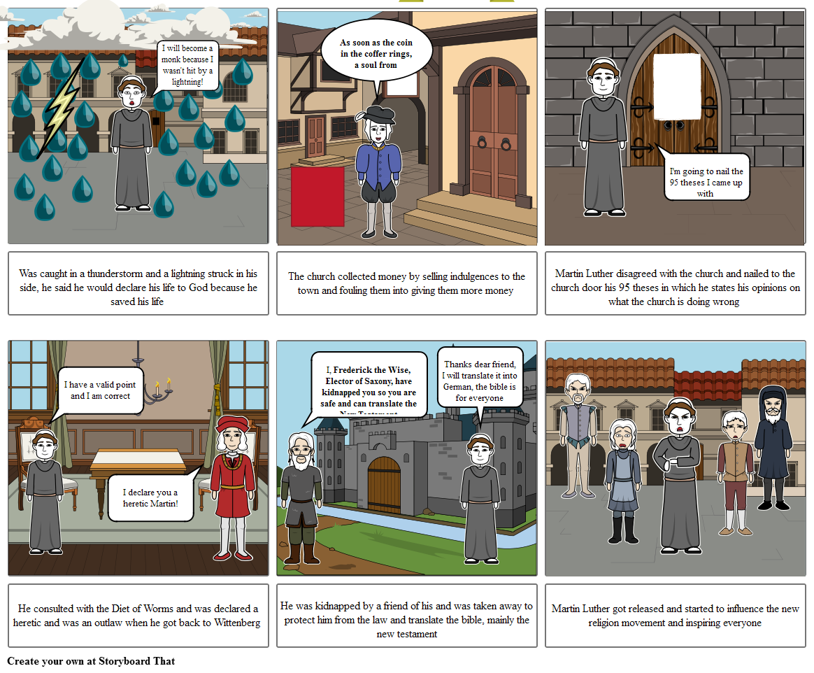 World Civ. Martin Luther Storyboard