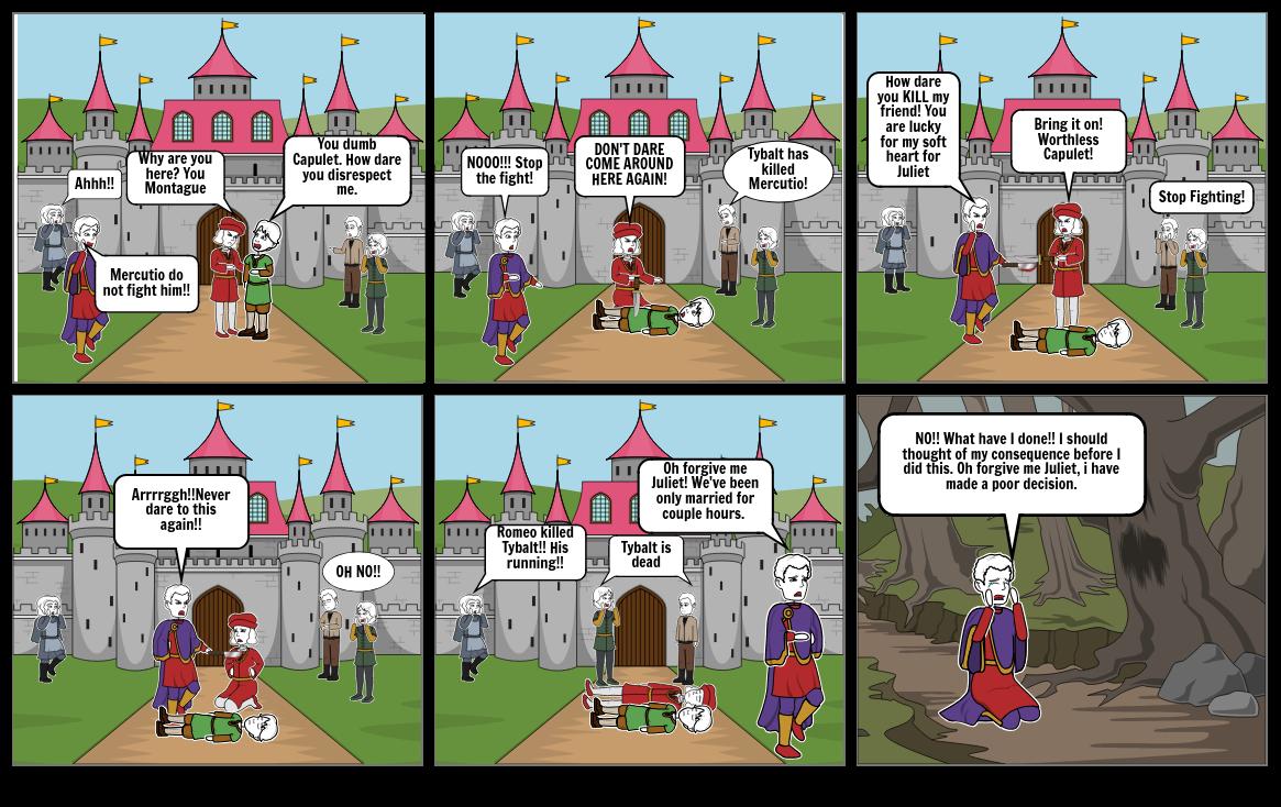 Romeo and Juliet StoryBoard Act 3: Scene 1