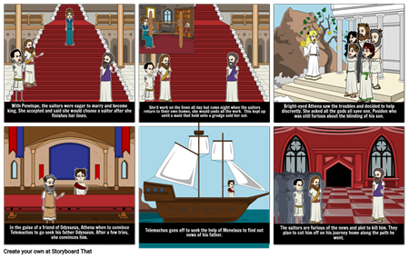 Telemachus Seeks His Father Comic
