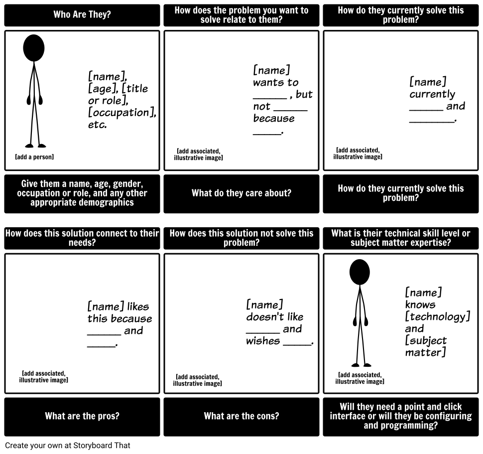 Website Storyboard Examples: 6 Cells Storyboard By Greenferret