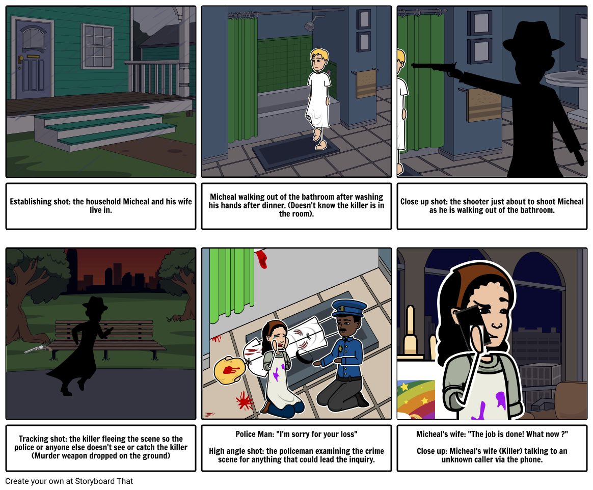 Alfred Hitchcock Story Board  FINISHED