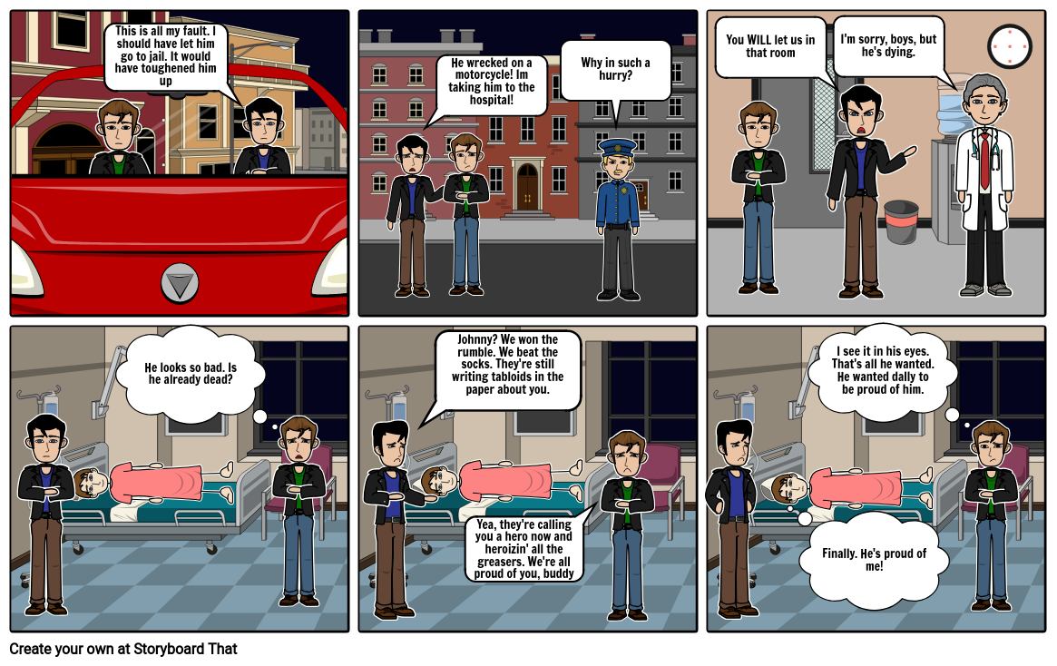 The outsiders Comic Strip