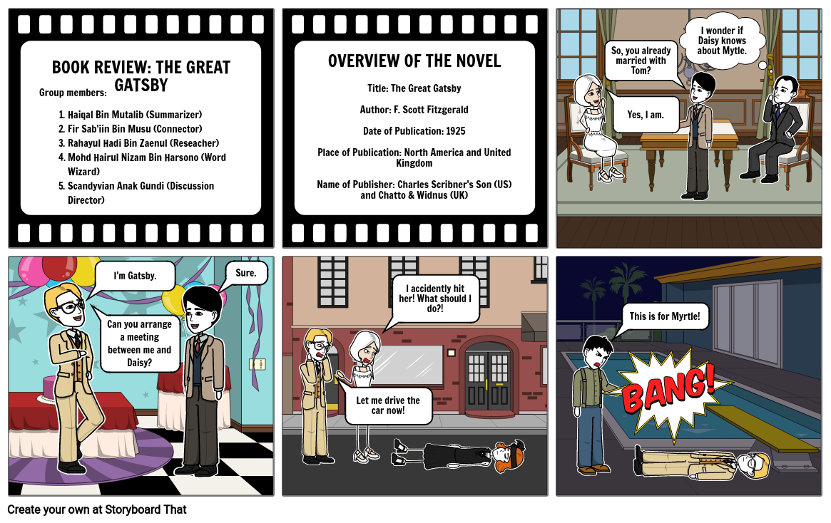 Group 4, The Great Gatsby (Storyboard)