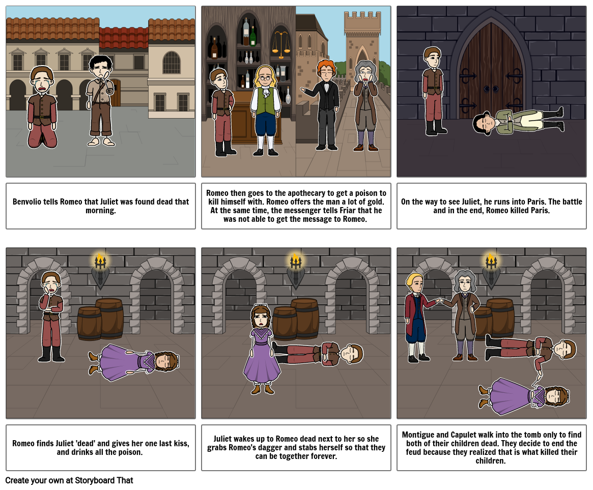 Romeo and Juliet Act 5 Story Board