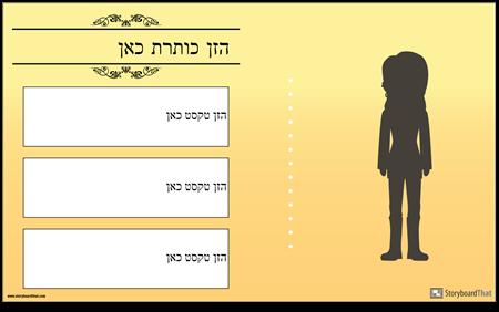 כרזות ביוגרפיה של חסימות טקסטים