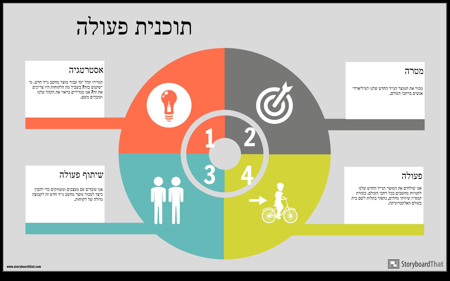 דוגמה למידע על תכנית הפעולה