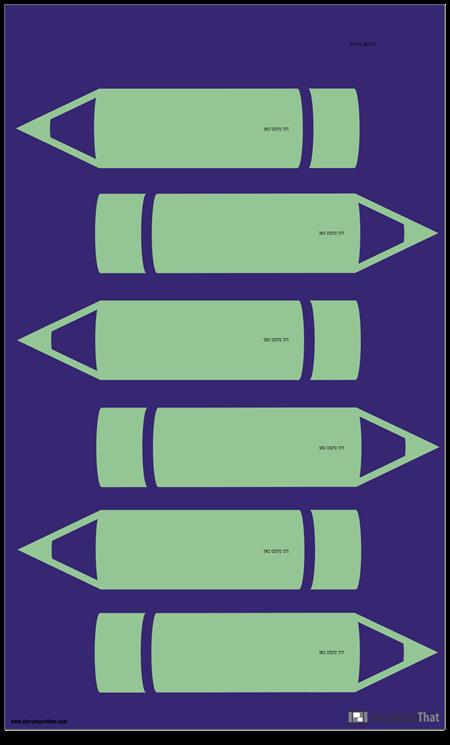 עפרונות תבנית אינפוגרפית