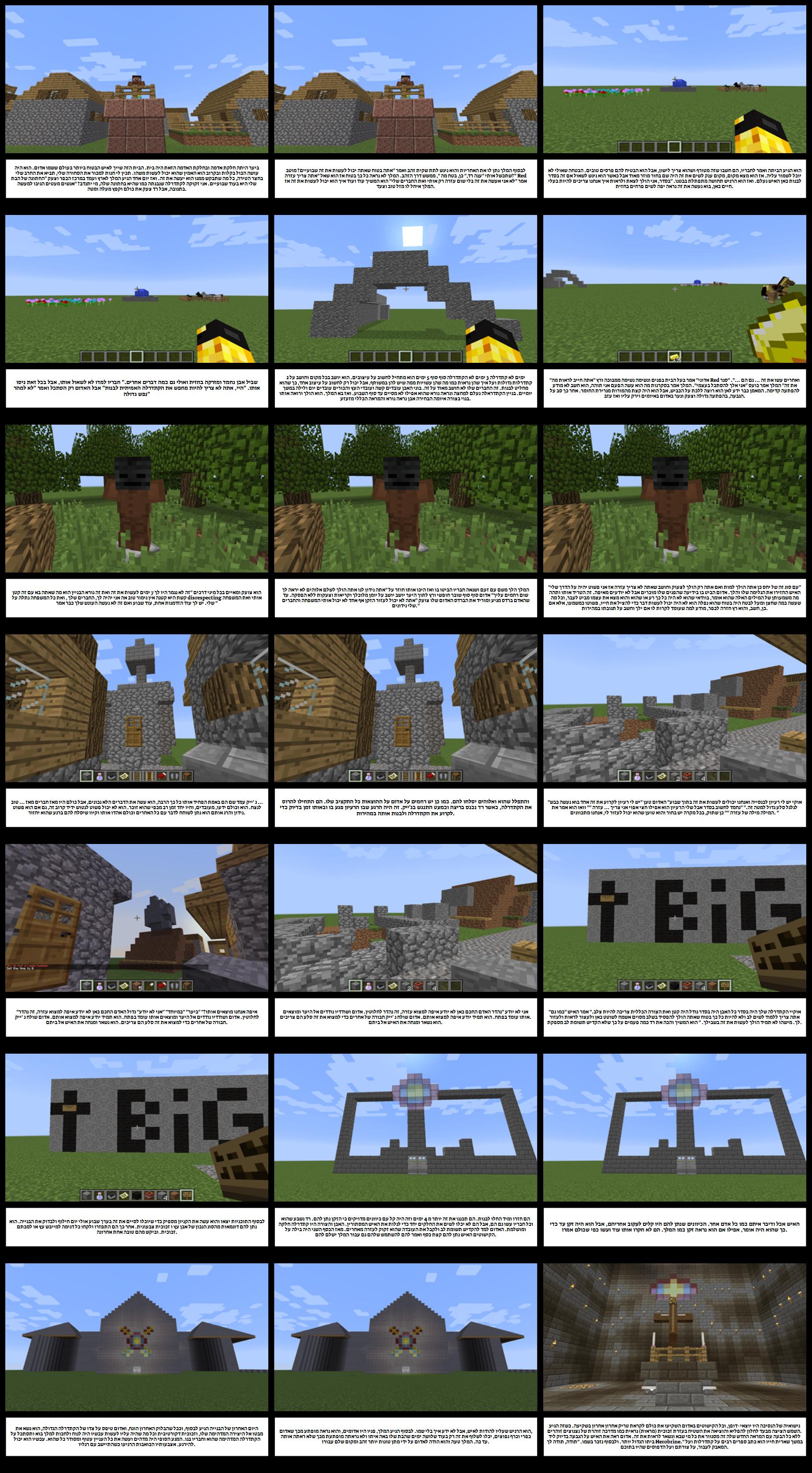 דוגמה לסטודנטים של Minecraft