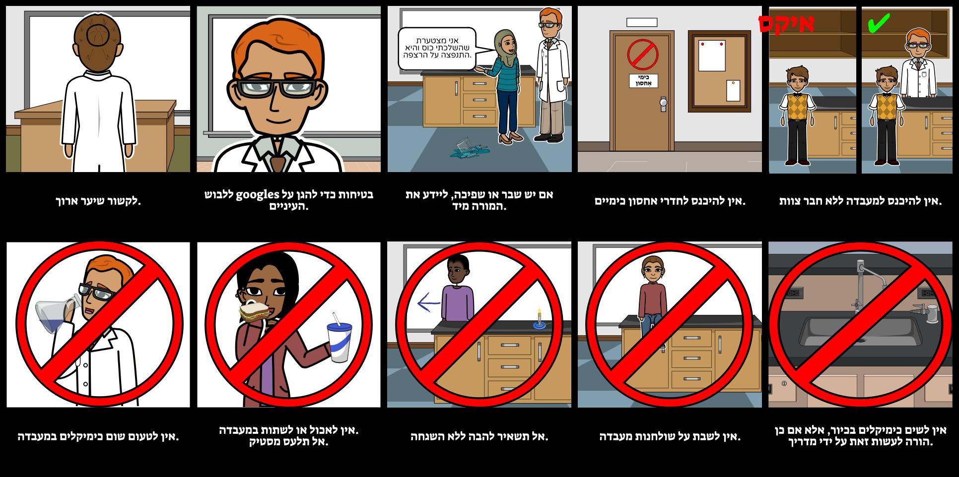 כללי בטיחות במעבדה