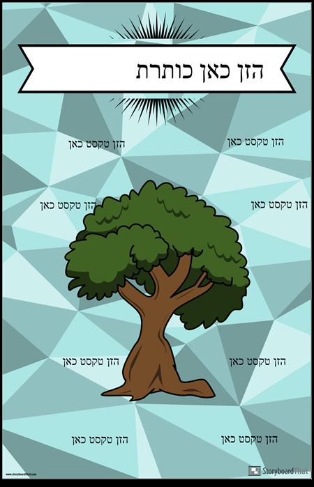 תרשים עוגן עצים