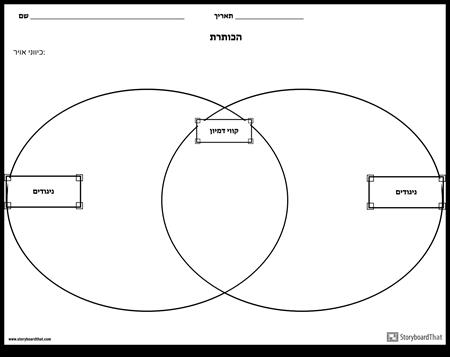 השווה תרשים Venn Contrast