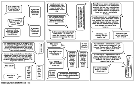 Story board with dialouge