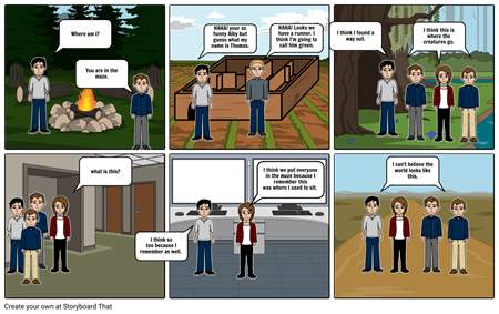 the maze runner comic strip