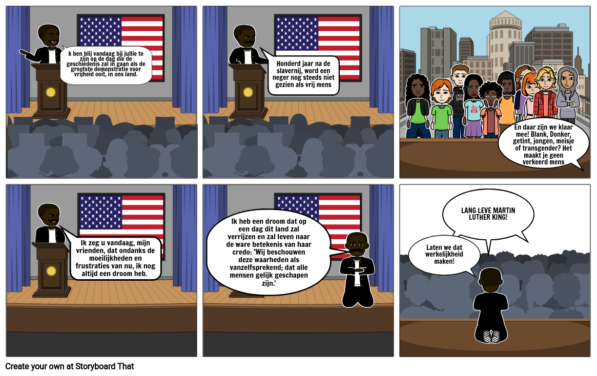 Martin Luther King strip