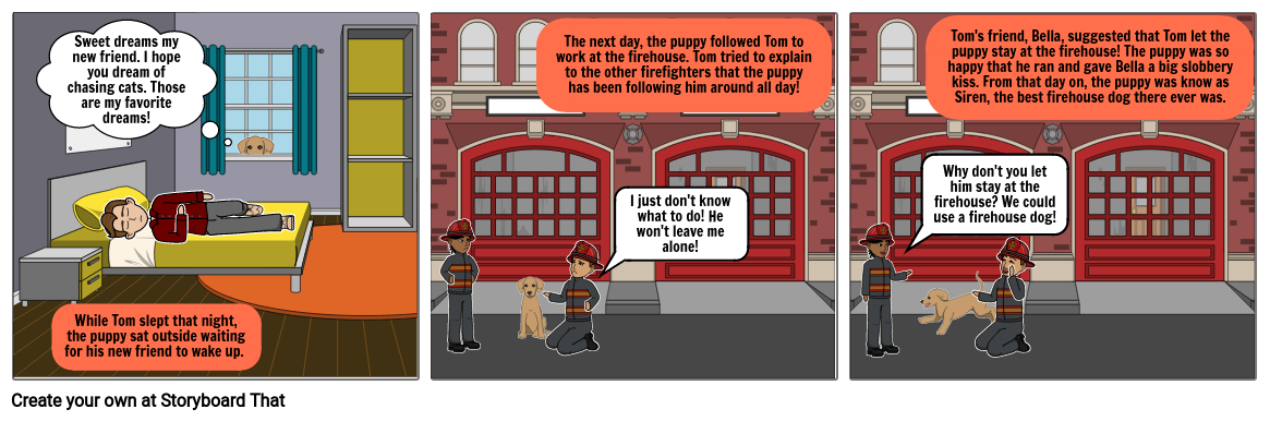 Tom and the Firehouse Puppy Part 2