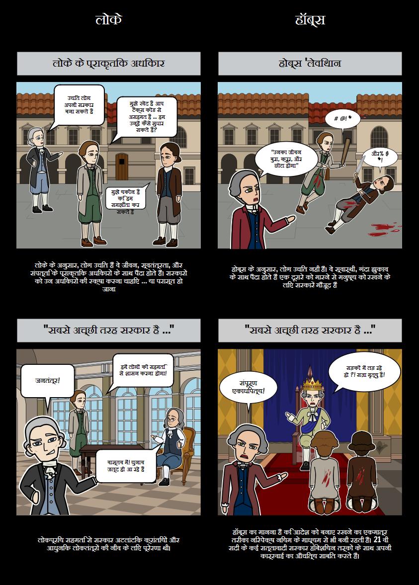 आत्मज्ञान के वैज्ञानिक क्रांति - लोके बनाम होब्स
