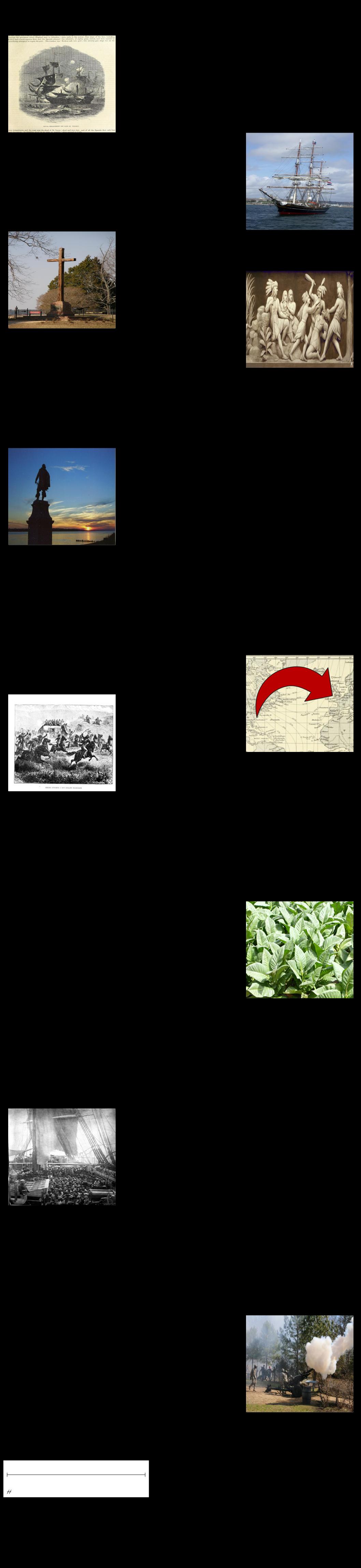 वर्जीनिया के सामान्य इतिहास की समय रेखा