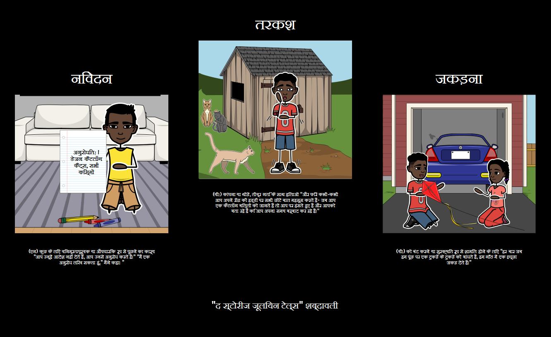 कहानियां जूलियन बताता शब्दावली