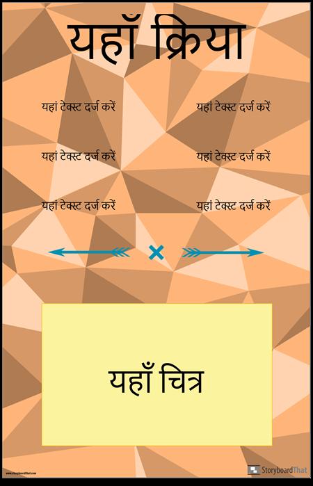 वर्टिकल वर्ब कंजुगेशन पोस्टर