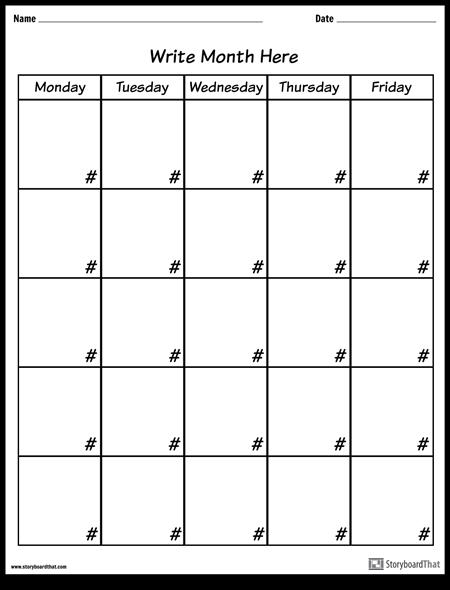 कैलेंडर - सप्ताह का दिन