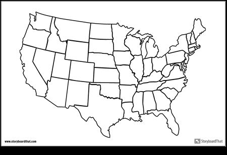 संयुक्त राज्य का नक्शा