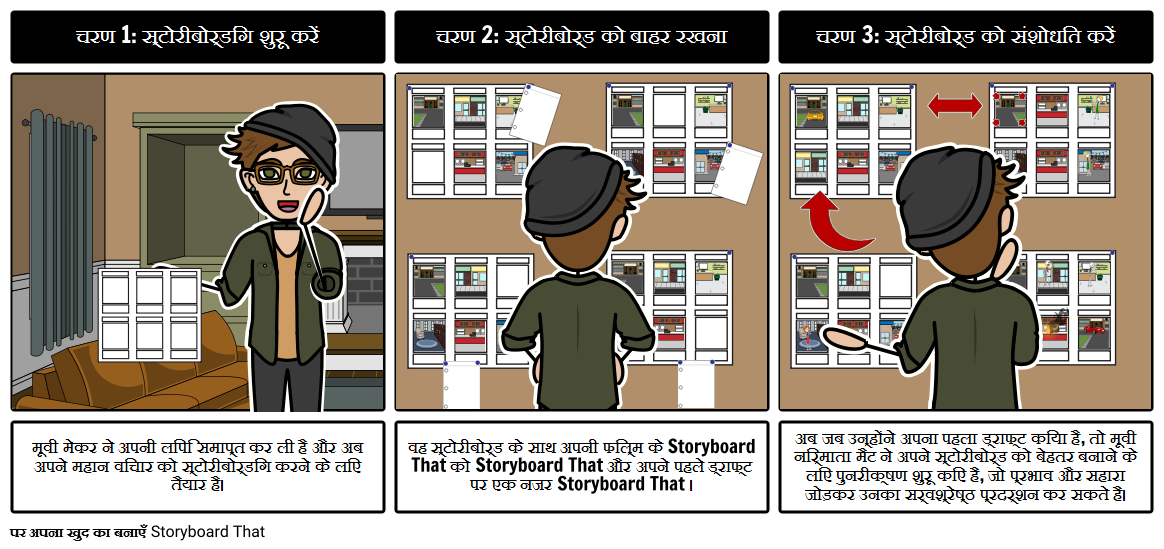मूवी निर्माता मैट Storyboarding शुरू होता है
